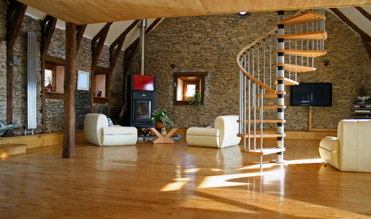 Дизайн интерьеров с камнем